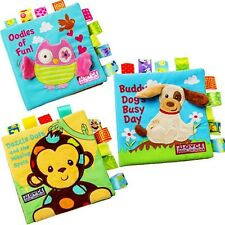 Baby Kid Child Preschool Reading Story Squeaky Crinkle Ribbons Cloth Book Toy 0+