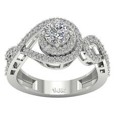 Halo Solitaire Anniversary Ring SI1 G 1.50Ct Real Diamond Appraisal White Gold