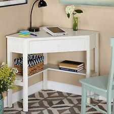 NEW Student Corner Work Desk Office Furniture Drawer Laptop Computer Table White