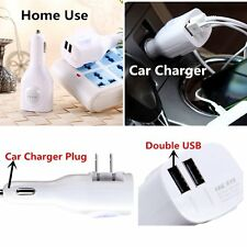 Universal 2 USB Charger Adapter Travel Kit Car and Home Micro USB Charger Hot