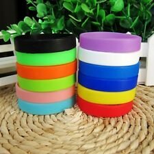 20cm Colorful Silicone Rubber Sport Wristband Cuff Bracelet Wrist Band Kids Gift