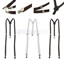 Unisex Suspender Clip-on Braces Elastic Y-back Suspender Universal Clip-On Belt