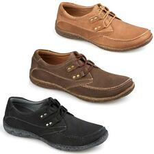 Mens Leather Lace Up Casual Boat Deck Walking Mocassin Loafers Driving Shoe Size