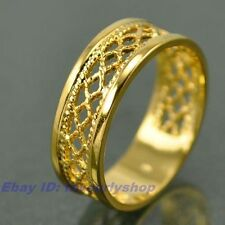 SIZE 7,8,9# ELEGANT WOVEN BAND 18K YELLOW GOLD PLATED RING SOLID FILL GEP f18