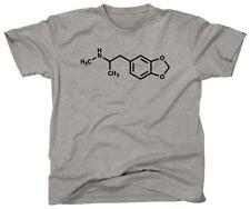 ECSTASY MDMA MOLECULE Funny Cool Clubbing Party Club - T-Shirt - NEW - Grey