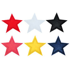 3/6 PCS Star Embroidered Iron on Applique Patch Fabric DIY  0h