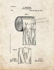 Toilet Paper Roll Patent Print Old Look