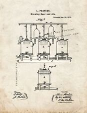 Brewing Beer And Ale Patent Print Old Look