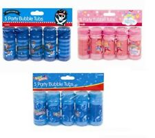New 5 Pack Kids Blowing Blow Bubbles Childrens Party Bag Fillers Wedding Favours