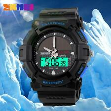 SKMEI Solar Sport Analog Digital Waterproof Men Army Military Quartz Watch M2K0