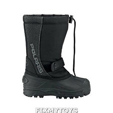 OEM Polaris Black Youth Waterproof Snowmobile Snow Winter Boots Sizes 1-6