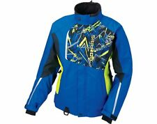 OEM Polaris Women's Blue & Lime Green Snowmobile Diva Jacket Insulated S-3XL