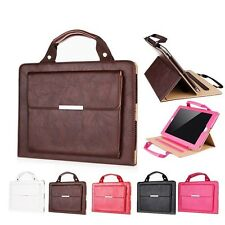 Buckle Leather Stand Smart Case Cover Handbag Wallet Bag Skin For iPad Tablet PC