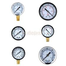 Mini Air Compressor/Vacuum Dial Meter Hydraulic Pressure Manometer Gauge
