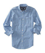 aeropostale kids ps boys' long sleeve check woven shirt marlin blue