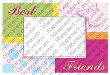 Best Friends ~ Edible Photo Frame Cake Topper ~ Edible ~ D1247