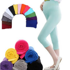 Maternity Cotton Leggings Capris Pop Comfortable 7 Pant Elastic Pregnant Women