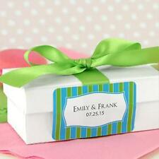 """42 Personalized Wedding Bridal Shower Party Favor Labels Stickers 2""""x1.25"""""""