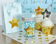 """24 Gold Silver Personalized Stationery Custom Star Stickers Labels 2.25"""""""
