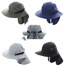 Ear Flap Sun Fishing Hat Neck Cover Bucket Outdoor Soft Cap UV Sun Protection