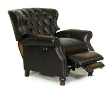 Barcalounger Presidential II Genuine Leather POWER Recliner Chair Stetson Coffee