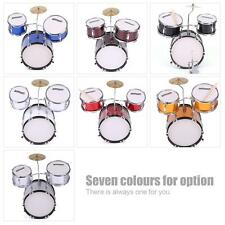 ammoon 3-Piece Kids Children Junior Drum Set Drums Kit with Cymbal Stool J6L3