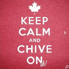 Authentic Canadian Keep Calm and Chive On Eh! Tee- KCCO - Size Large and XL