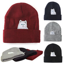 Hip Hop Fall /Summer Men's Beanies Unisex Winter Acrylic Cat knit wool cap Hats