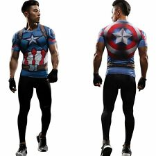 Superhero 3D Captain America 3 Civil War T-shirts The Avengers Sport Mens Shirt