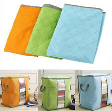 Large quilt beding Pouch Hot Storage Bag Bamboo Clothing Underbed Portable