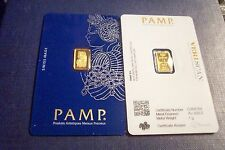 NEW MINT SEALED 1 GRAM GOLD VERISCAN FORTUNA PAMP SUISSE .9999 PURE BULLION