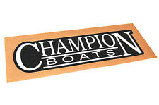 Champion Boats - Bass Boat Carpet Graphic - Multiple Sizes - Decal Logo