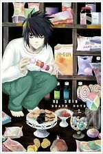 "Death Note Anime Fabric Art Cloth Poster 20x13 28x18 36x24"" Decor 14"