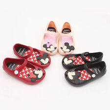 Fashion Kids Baby Girls Mickey Minnie Flat Sandals Toddler Fish Head Jelly Shoes