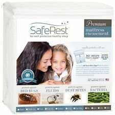 SafeRest Waterproof Lab Certified Bed Bug Proof Zippered Mattress Encasement