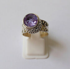 Color Change Lab Created Alexandrite 925 Solid Sterling Silver Ring Size 4-13 US