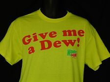 Mountain Mtn. Dew Tee Shirt Mens Sizes Logo Neon Yellow Trau Loevner Sportswear