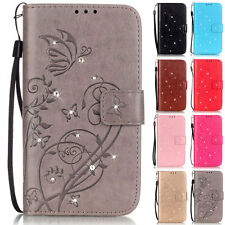 Bling Butterfly Wallet Leather Flip Case Cover For Samsung Galaxy S4/S5/S5 Mini