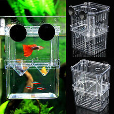 Aquarium Fish Breeding Box Tank Fry Trap Hatchery Floating Breeder Box Nursery