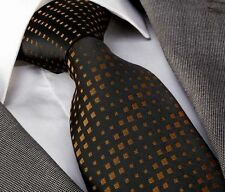 NEW ITALIAN DESIGNER BLACK & BRONZE SILK TIE