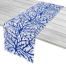 Island Girl Home Coral Cobalt Table Runner