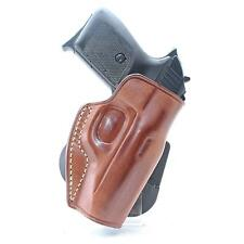 MASC LEATHER PADDLE (OWB) HOLSTER, OPEN TOP FOR WALTHER PPK & MAKAROV PPK