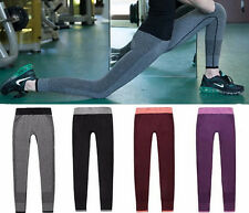 Womens Leggings Hot Compression Fitness Yoga Pants Trousers Wear Gym Workout