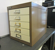Bisley 5 Drawer A4 Steel Multi Drawer Cabinet Coffee&Cream