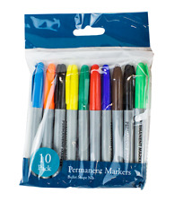Multi Coloured Permanent Markers Pack of 10 GREAT LOW PRICE FAST