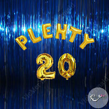 Plenty 20 Birthday Foil Balloons Party Decorations Boys Girls Gold Silver 20th