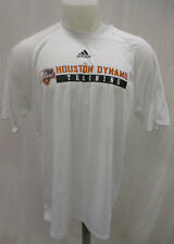 Houston Dynamo Men Large Adidas Climalite White Training T Shirt Flawed MLS A9M