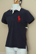 Polo Ralph Lauren Big Pony Custom Fit Mens Rugby NAVY NWT