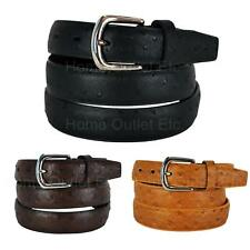 "1.1"" Faux Ostrich Skin Leather Dress Belt Embossed Exotic Casual Unisex Womens"