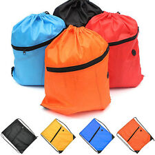 Drawstring School Swim Dance Shoes Bags Waterproof Sports Hiking Backpack Pouch